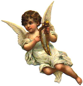 angel child with harp
