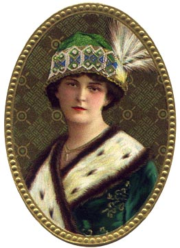 Victorian lady in green