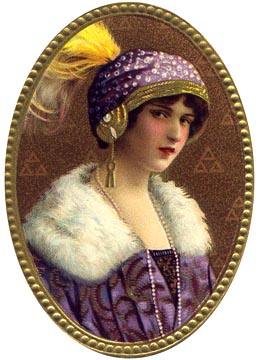 Victorian lady in purple