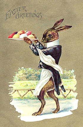 Victorian Easter bunny dressed rabbit